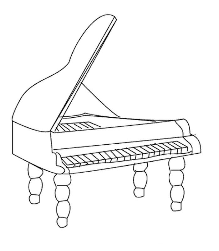 free music instrument coloring pages - photo#4