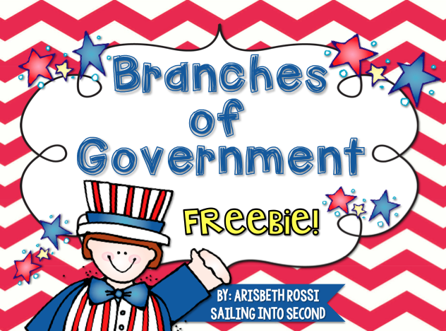 3 branches of government freebie - Activities for Kids from HowToHomeschoolMyChild.com