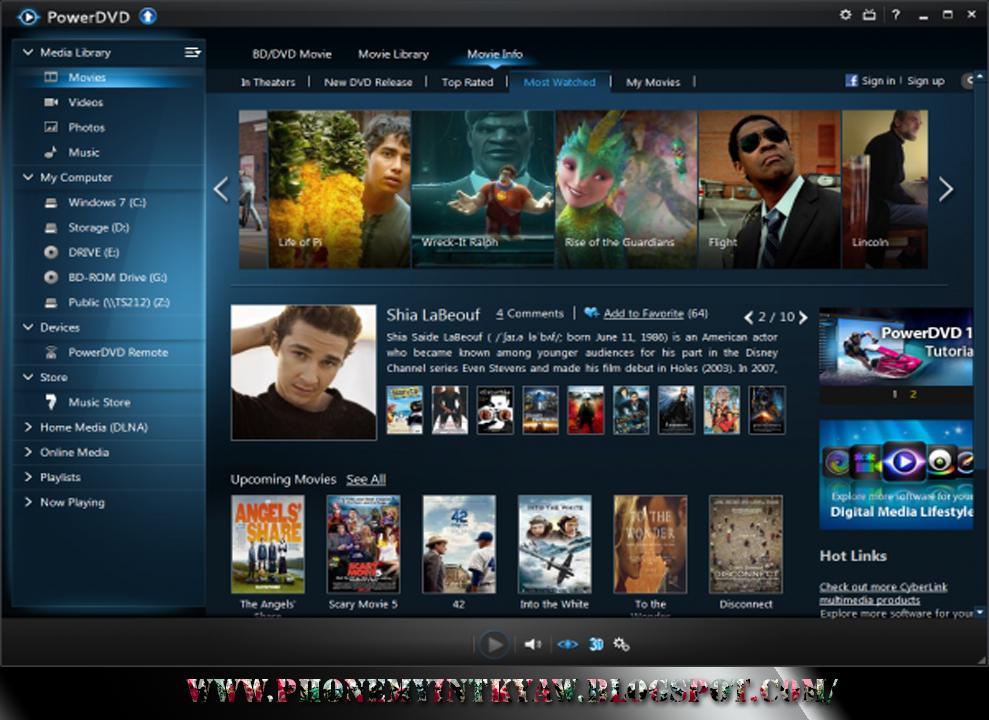 CyberLink PowerDVD Ultra - скачать лучший DVD проигрыватель на компьютер.