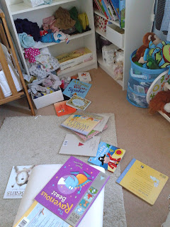 Children's Child's Bedroom Messy Books