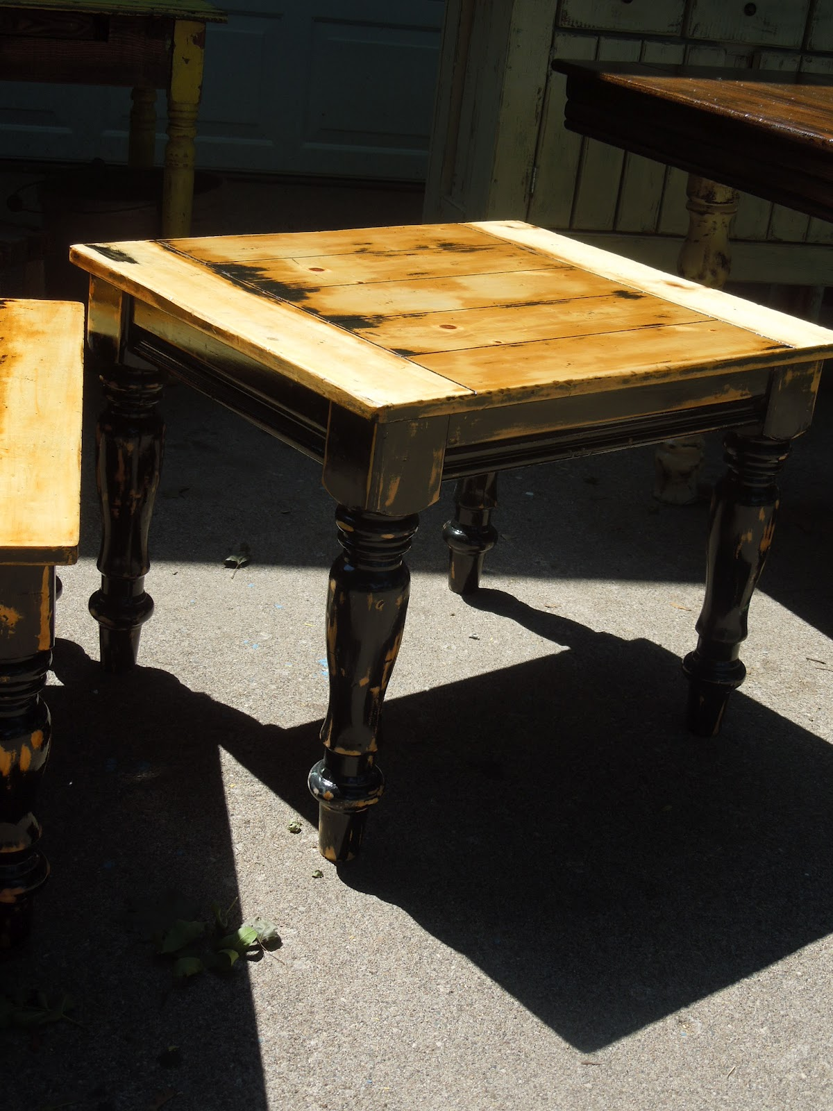 Tattered lantern coffee and end table set sold for T table for 99