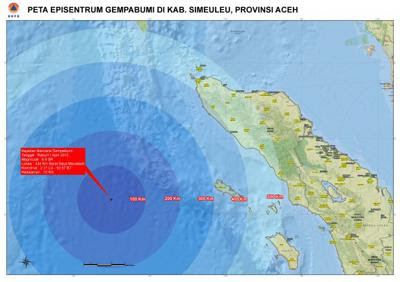 Foto Gempa Bumi Terkini di Aceh 11 april 2012