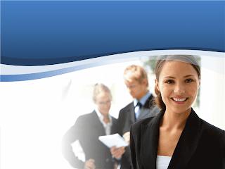 presentación de mujer de negocios