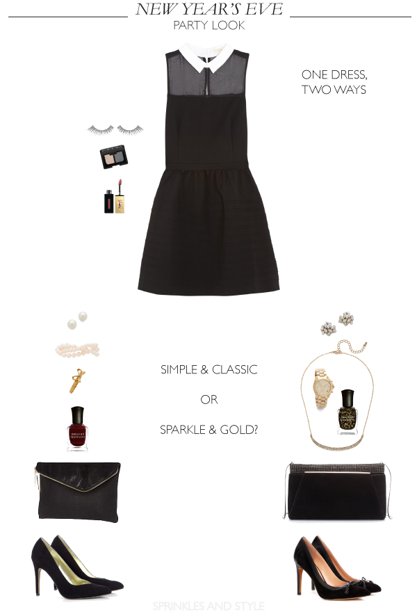 Sprinkles and Style || One Dress, Two Ways for New Year's Eve