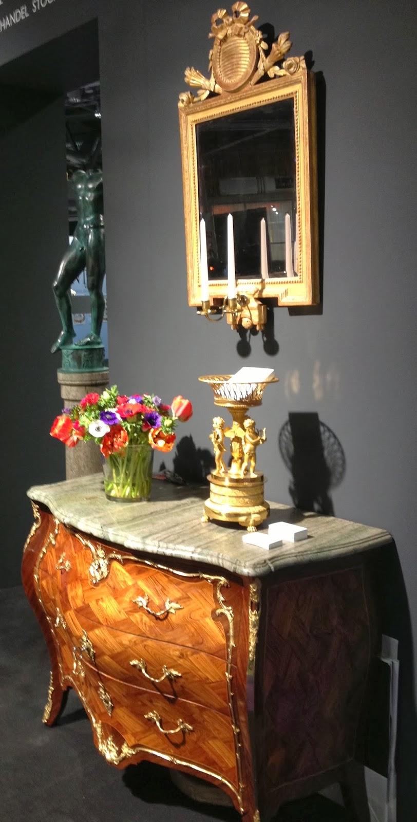 Blommiga rutan: antikmässan   konst inredning design