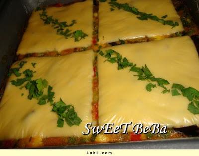 غراتان بادنجان بالجبن المثلث بالصور a3.jpg