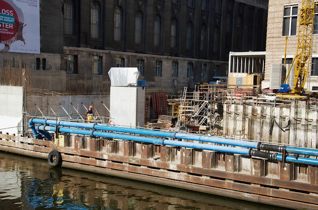 Baustelle Empfangsgebäude für die Museumsinsel, Pergamon Museum, Am Kupfergraben, Bodestraße 1-3, 10178 Berlin, 17.09.2014