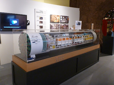 Scaled-Down Model of the Boring Machine at Milepost 31