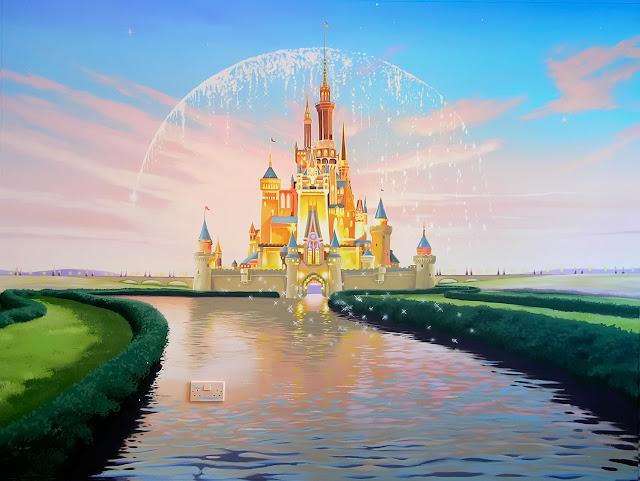 Disney - esque  Castle hand painted