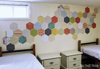 kids bedrooms wall covering - Hexagons