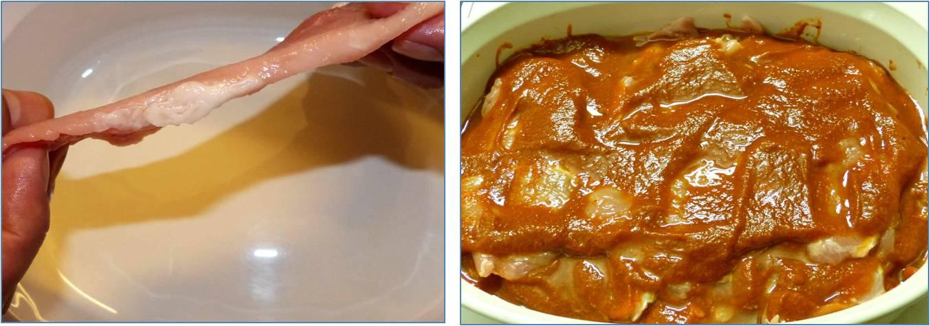 Se deja macerar la carne con la salsa