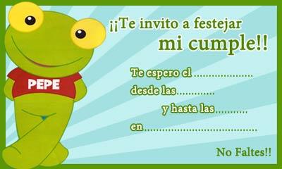 Pepe Rojas on Tarjeteria  Invitaciones Y Marcos Del Sapo Pepe   Todo Tarjeteria