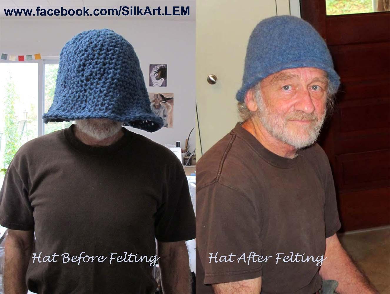 Linda Marcille, Fine Art ~ Crow House Studio: Felted Wool Bucket Hat