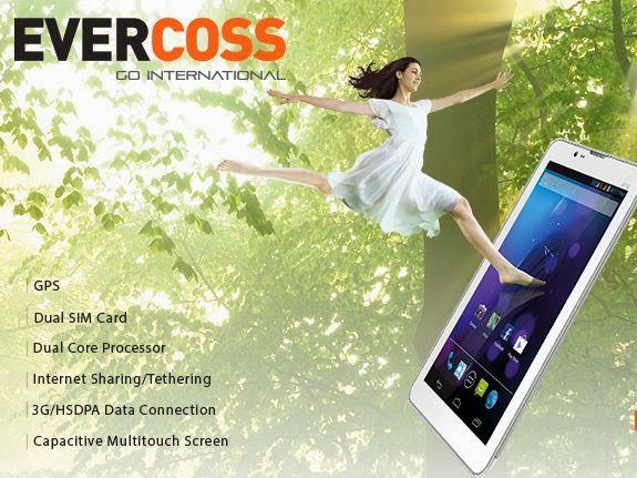 Tablet Dual SIM Card HSDPA Murah Evercoss AT1G