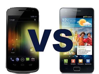 Samsung Galaxy Nexus vs Galaxy  comparação