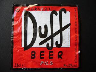 Homer Simpson's beer Duff
