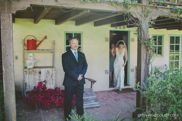 """first look with father and bride"""
