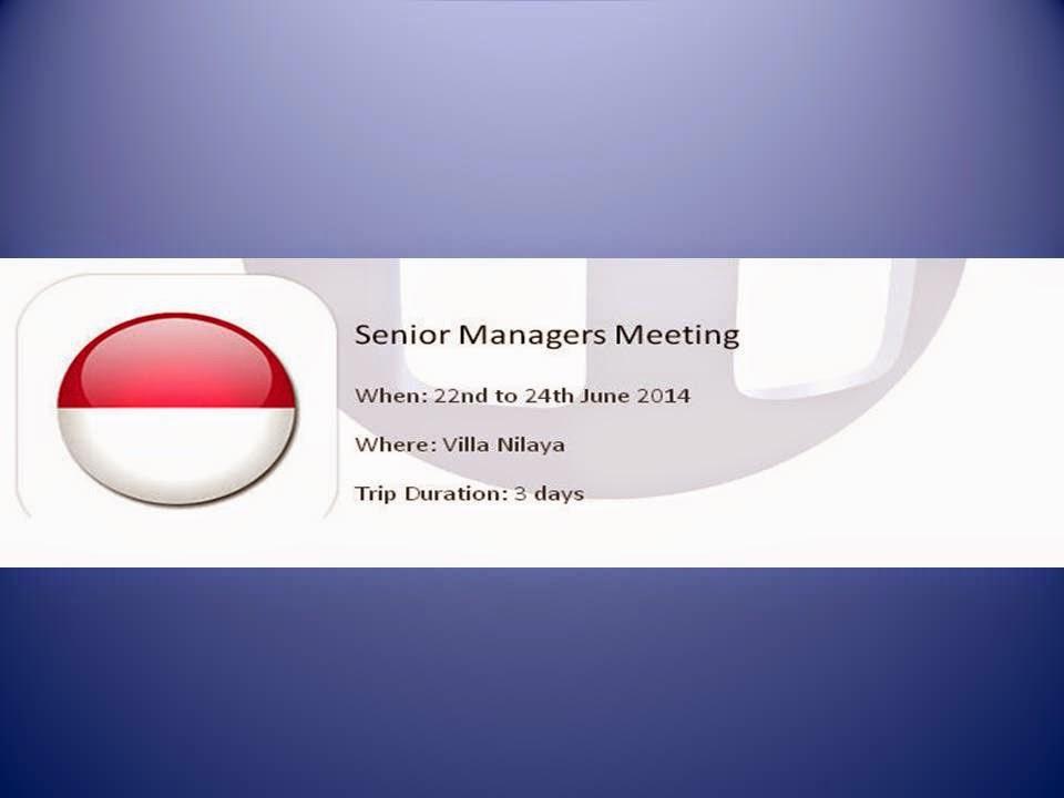 Redwoods Advance Singapore - Senior Managers Meeting