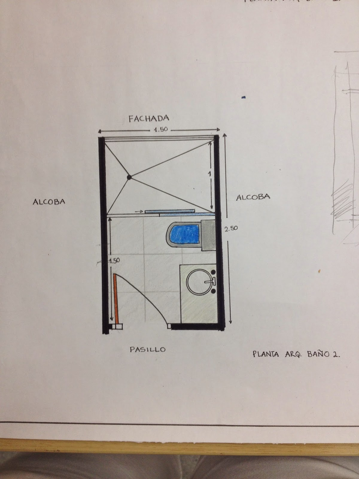 Taller b sico 2 0 por mar a elvira castro m septiembre 2014 for Bano publico medidas