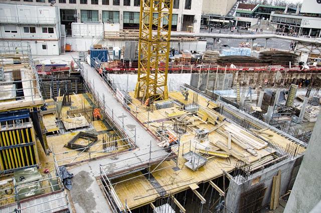 0445, Baustelle Upper West, Hotel, Büro, Einzelhandel, (ursprünglich: Atlas Tower), geplante Höhe: 118 Meter, Breitscheidplatz, 10623 Berlin, 24.02.2015