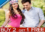 Buy 2 Get 1 Free on Zovi Apparels & Accessories + Extra 10% OFF on Pre-paid Orders || Zovi