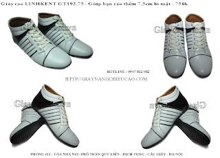 Giày tăng chiều cao Linh Kent GT192. 75