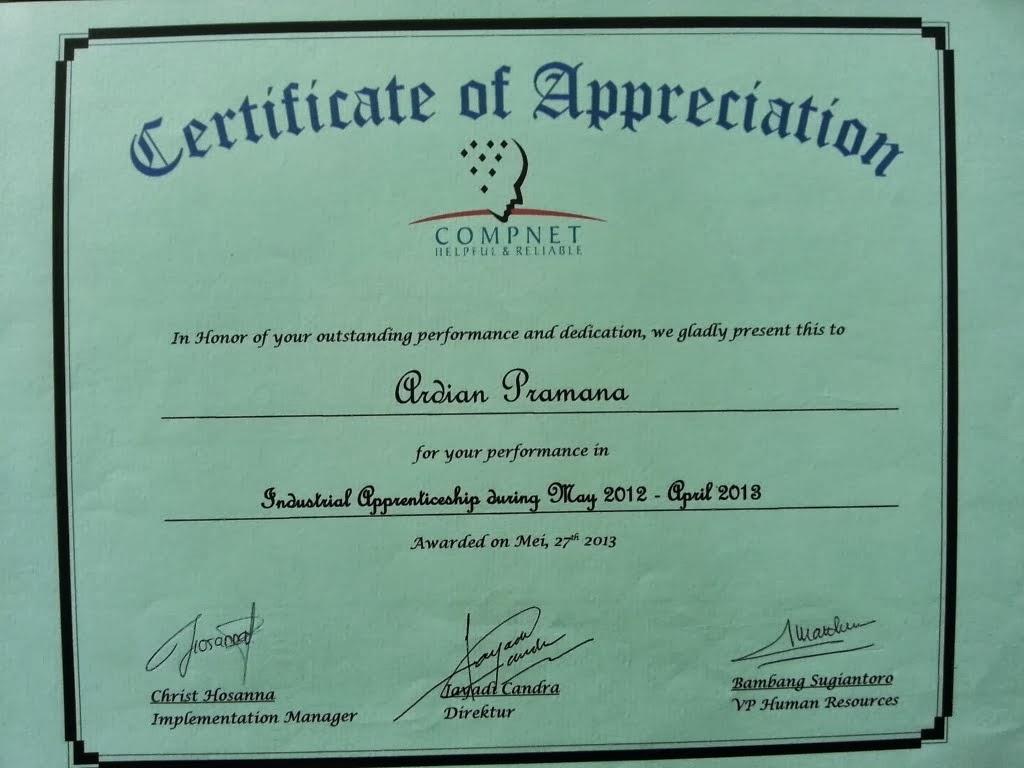 Download image Piagam Sertifikat Penghargaan Genuardis Portal Picture ...