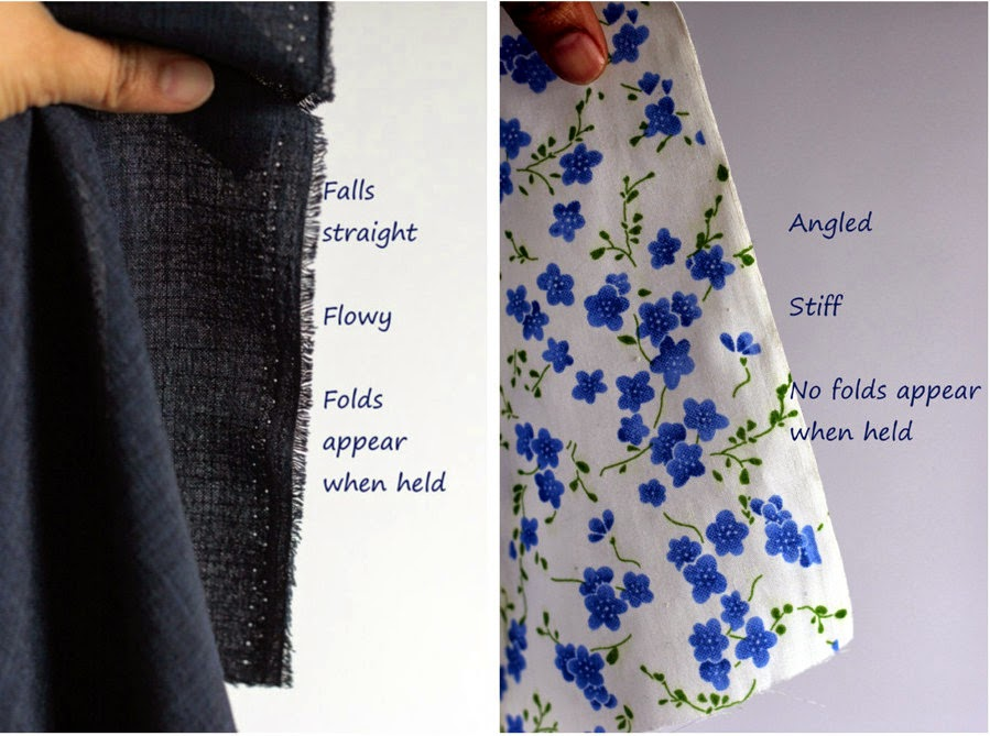 How to choose fabric, how to test drape of fabric