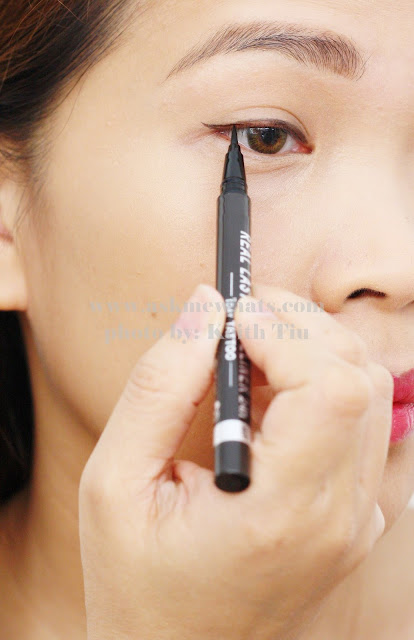 how to use K-Palette Real Lasting 1 Day Tattoo Real Lasting Eyeliner
