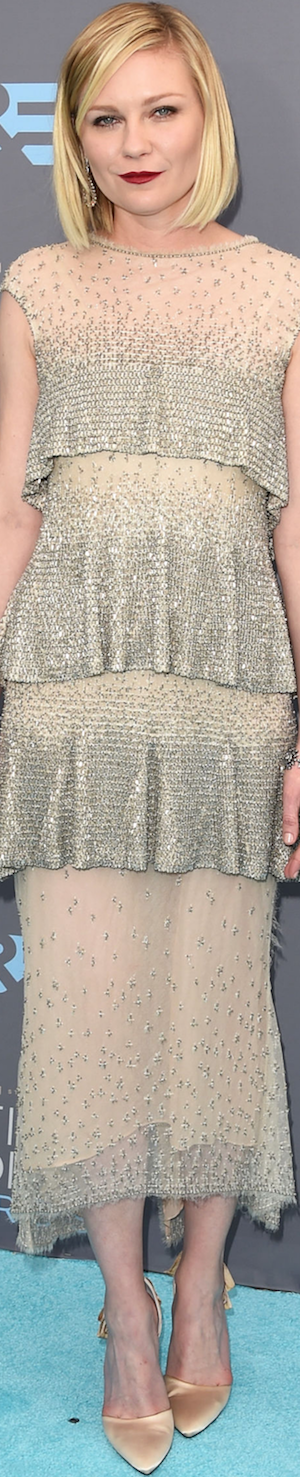 Kirsten Dunst in Chanel 2016 Critics' Choice Awards