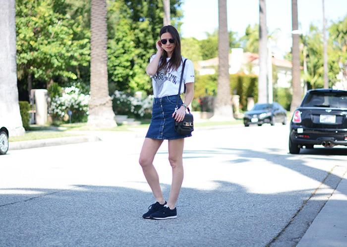 Αποτέλεσμα εικόνας για denim skirt teen street style