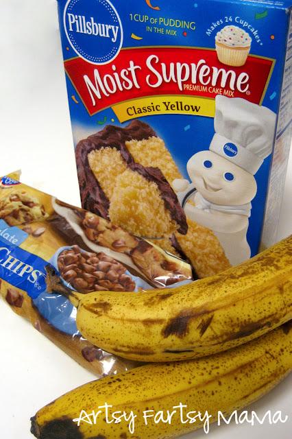Easy 4 Ingredient Banana Bread