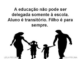 Juntos família e escola.