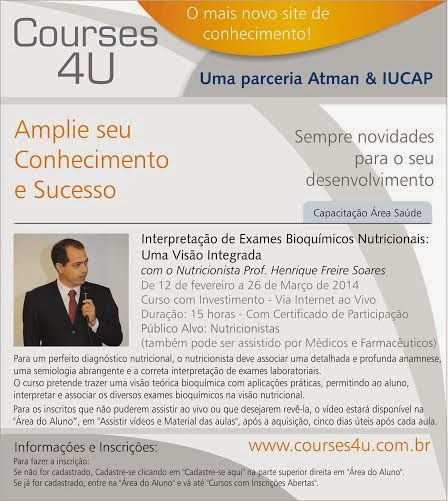 CURSO ON LINE DE EXAMES BIOQUIMICOS