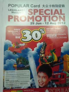 PROMOSI 30% DISKAUN HARGA TIKET LEGOLAND MALAYSIA