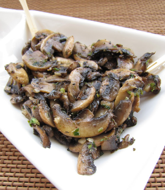 A Quick Snack With Sauteed Celery Flavored Mushrooms