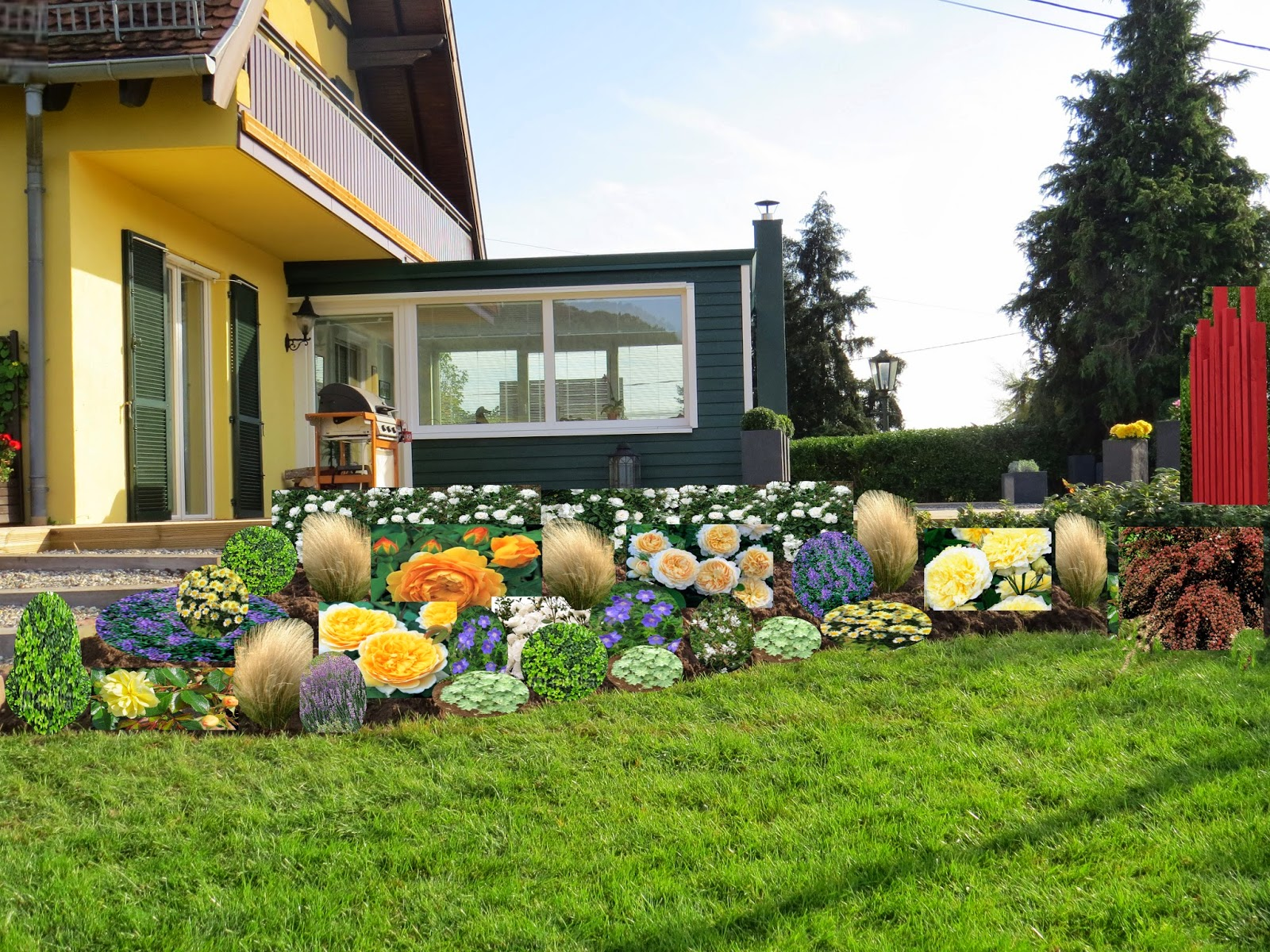 Jardin alsace vignoble for Massif jardin zen