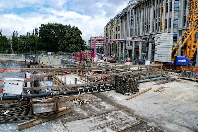 Baustelle Museumsinsel, Friedrichsbrücke, Brückensanierung, Bodestraße, 10178 Berlin, 16.06.2013