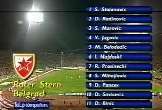 Estrella Roja Belgrado, Red Star, Crvena Zvezda, 1991,