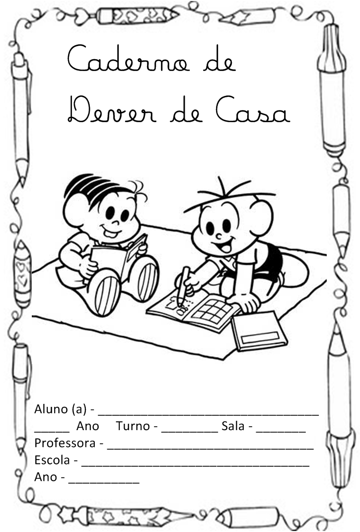 Marcadores  Capinhas De Caderno   Ci  Ncias   Dever De Casa   L  Ngua