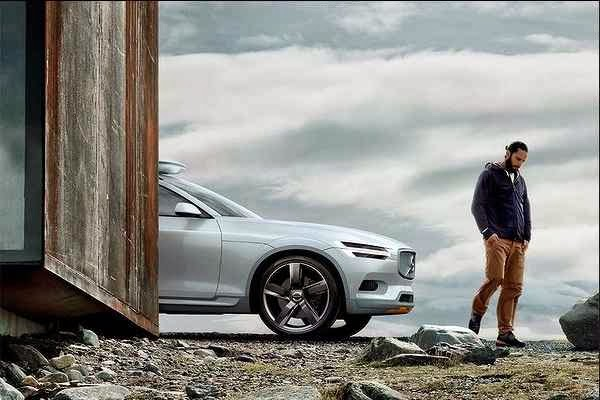 Volvo Concept XC Coupe on road