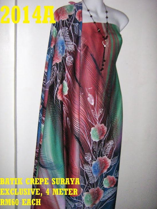 BS 2014A: BATIK CREPE SURAYA EXCLUSIVE, 4 METER