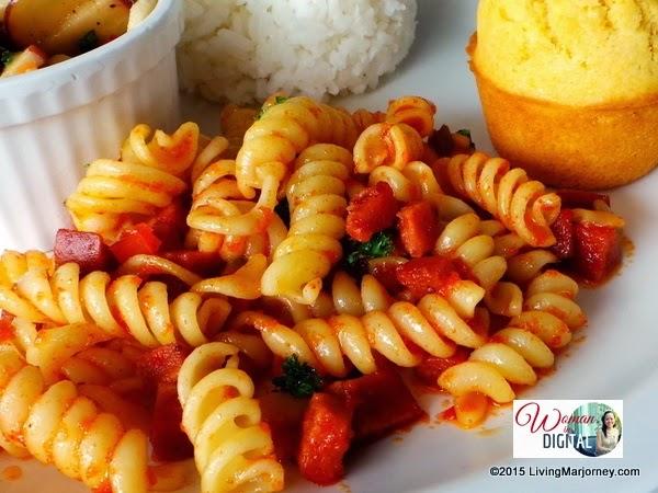 Kenny-Rogers-Garlic-Chorizo-Pasta via Woman-In-Digital