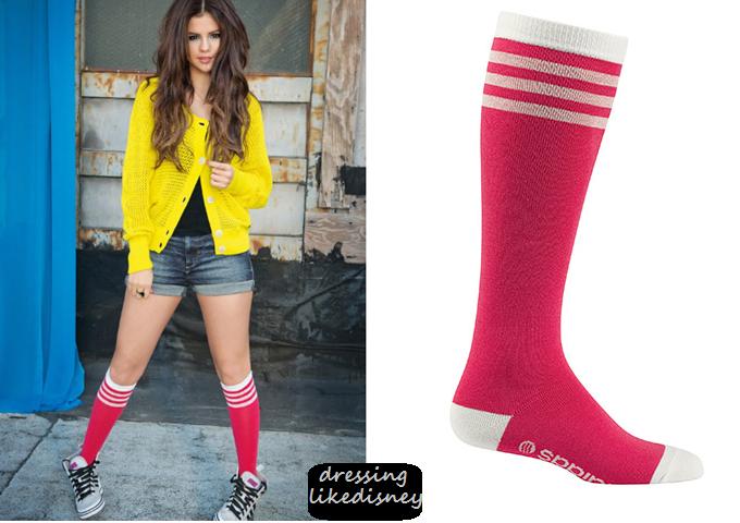 Selena Gomez Adidas Menu0026#39;s Long Crew Socks | Dressing Like Disney Celebrity TV Fashion ...