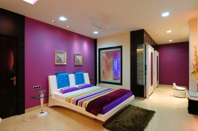 15 cool purple bedroom ideas for color schemes and color combinations - Bedroom Ideas Color