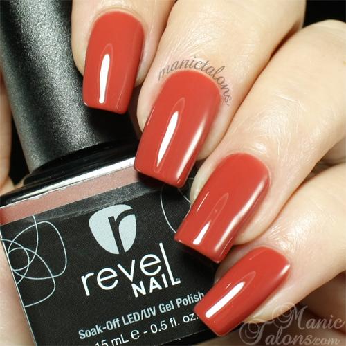 Revel Nail Gel Polish Bonfire Swatch