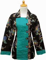 Model Baju Batik Wanita Motif Bunga