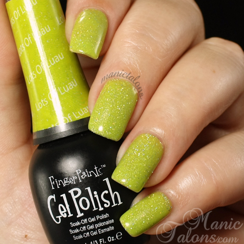 FingerPaints Gel Polish Lots of Luau Swatch