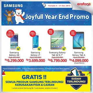 Promo Akhir Tahun 2015 (Joyful Year End) Smartphone 4G dan Tablet 4G Samsung Galaxy di Erafone