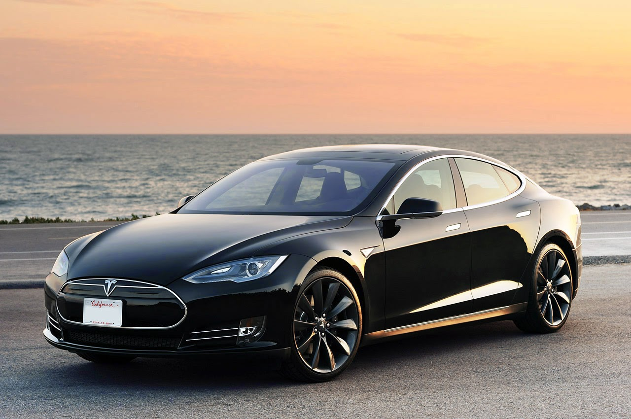 Electric Sports Car : Tesla Model S a Sedan with the Electric Drive